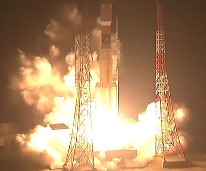 H︲ⅡBロケット打ち上げ成功(JAXA提供)