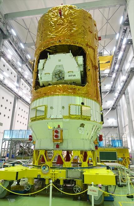 宇宙ステーション補給機「こうのとり6号」(JAXA提供)