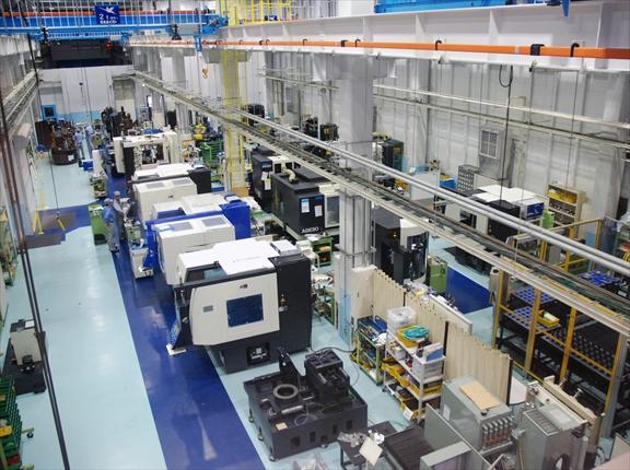 牧野フライス精機 第1工場内部