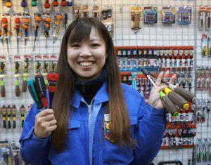 ふぁいと!!〜機械工具業界で活躍する女性たち〜<br>ベッセル工業 川畑  万里菜さん<br>世界が知るブランドに
