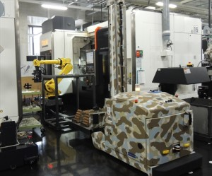 ロボットと微塵搬送車が活躍