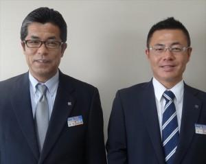 岡部関西支社長(左)と功刀副支社長(右)