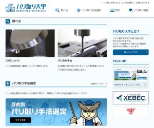 【ウェブ限定】バリ取り大学のサイトリニューアルージーベックテクノロジー